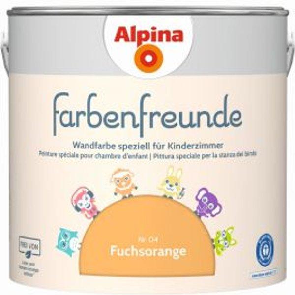 ALPINA Wand- und Deckenfarbe »Farbenfreunde«, Fuchsorange 2,5 l