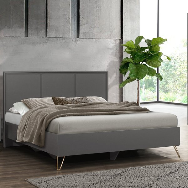 Arlo Charcoal Wooden Bed Frame - 4ft Small Double