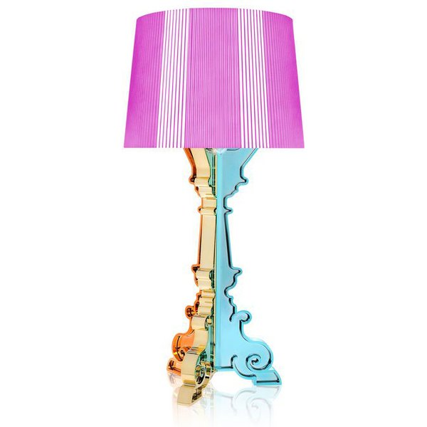 Bourgie Table lamp by Kartell Fuschia