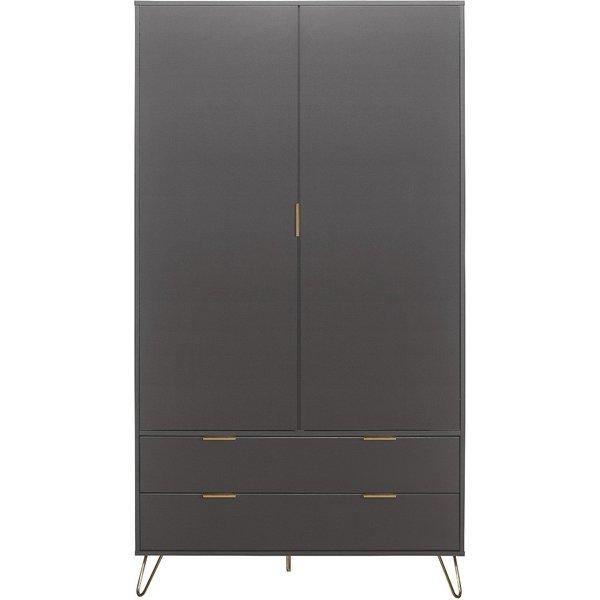 Alo 2 Door 2 Drawer Wardrobe in Grey