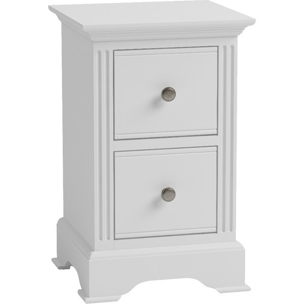 Grace Small White Bedside Table