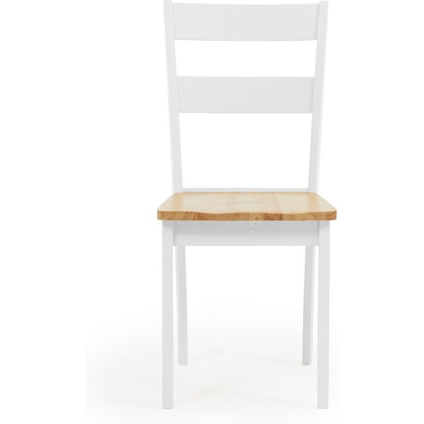 Chiltern Oak and White Dining Chairs - Oak and White, 2 Chairs