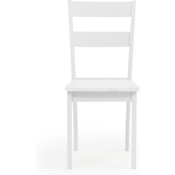 Chiltern White Dining Chairs - White, 2 Chairs