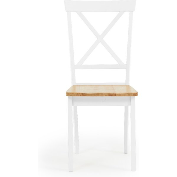 Epsom Oak and White Dining Chairs - Oak and White, 2 Chairs