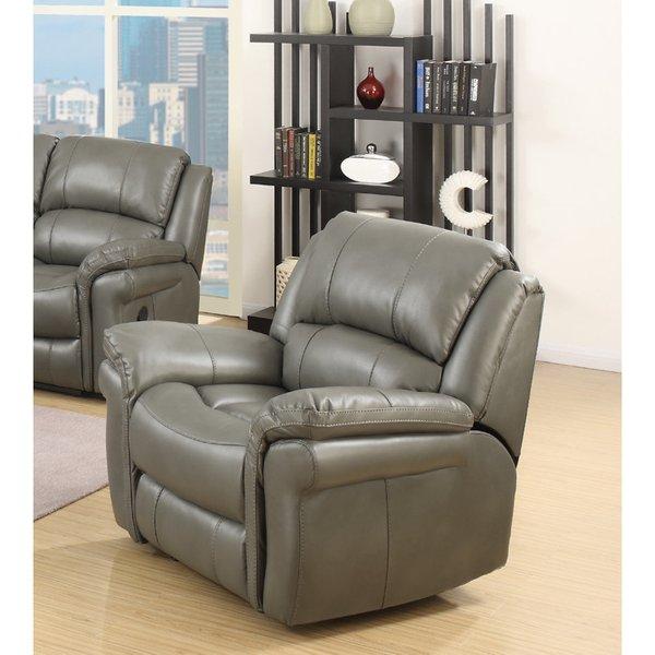 Finchley Grey Leather Armchair