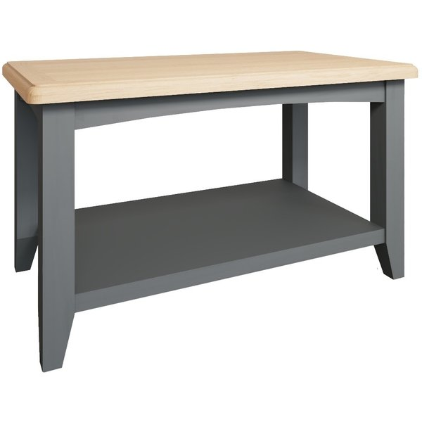 Arlia Oak and Grey Small Coffee Table