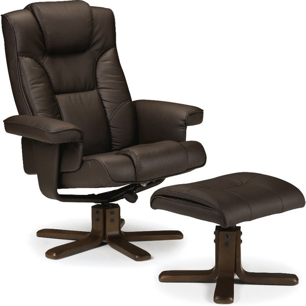 Marcus Brown Faux Leather Rise and Recline Chair
