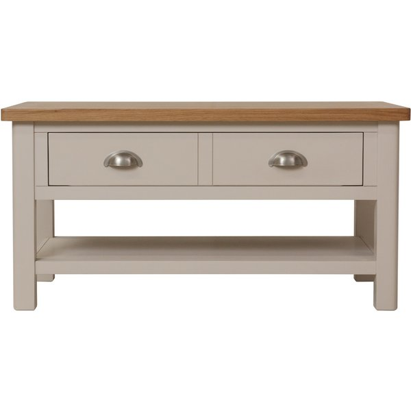 Cole Oak and Truffle Grey Large Coffee Table