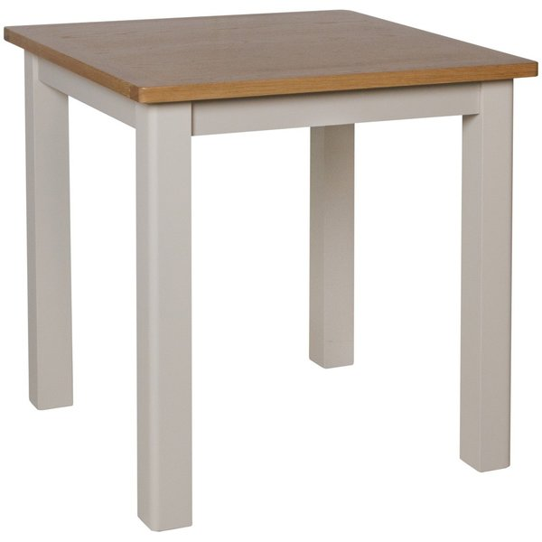 Cole Oak and Truffle Grey Square Dining Table
