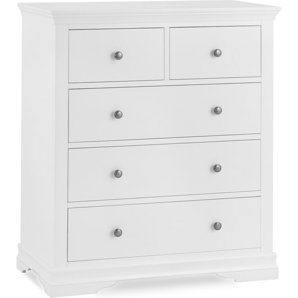 Brooklyn White 2 Over 3 Chest of Drawers