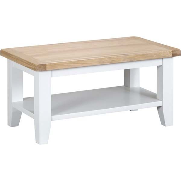 Eden Oak and White Small Coffee Table