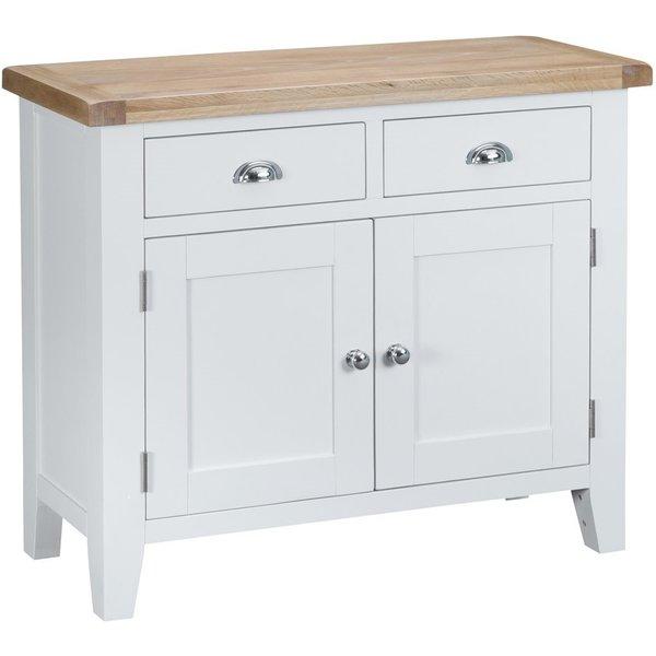Eden 2 Door 2 Drawer Oak and White Sideboard