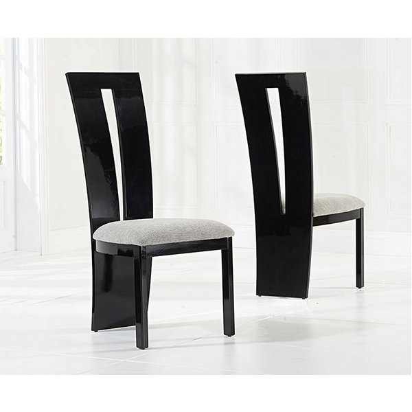 Verbier Solid Wood Black Dining Chairs