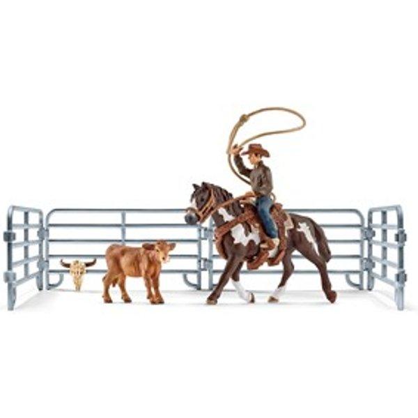 Schleich Farm Life Team roping mit Cowboy