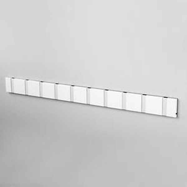Loca Knax 10 Garderobe waagerecht Weiß/Alu