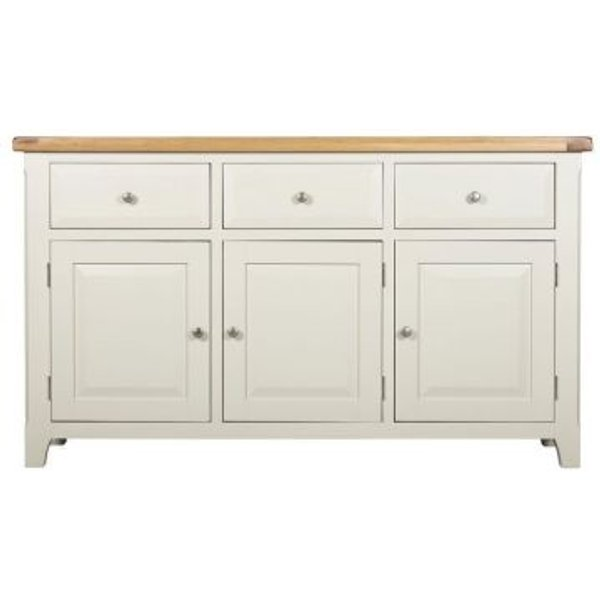 2. Harmony White 3 Doors 3 Drawers Sideboard: £299, QD stores