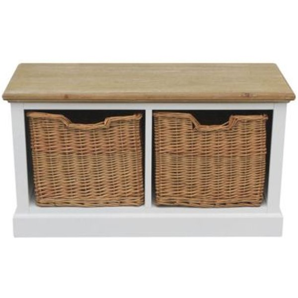 30. 2 Wicker Baskets Country Coffee Table: £99.99, QD stores