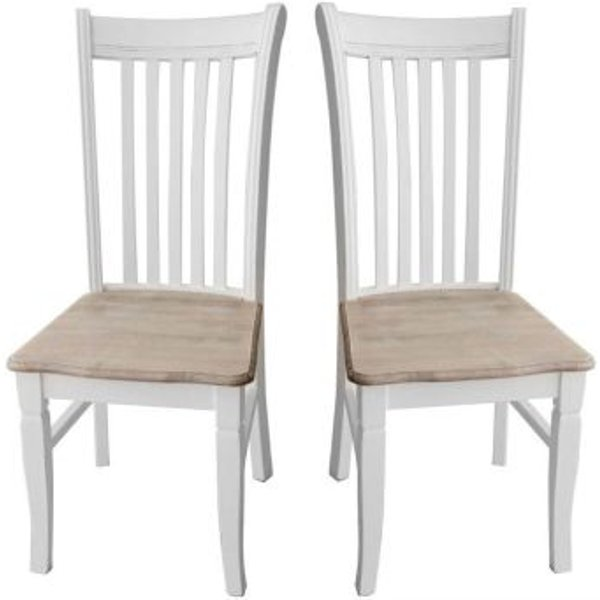 27. Pair of Vintage Shabby Chic Dining Chairs Vintage - Distressed French: £119.99, QD stores