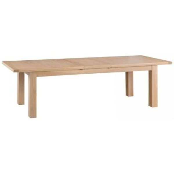 2. Monica Oak Extending Dining Table With Metal Runner (2.4m - 2.9m): £735, QD stores