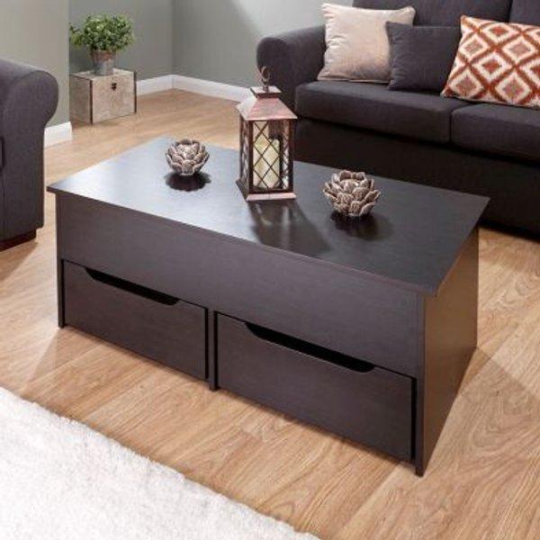 8. Ultimate Dark Brown Storage Coffee Table: £114.95, QD stores