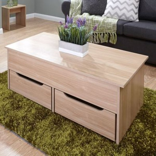 1. Ultimate Oak Finish Storage Coffee Table: £114.95, QD stores