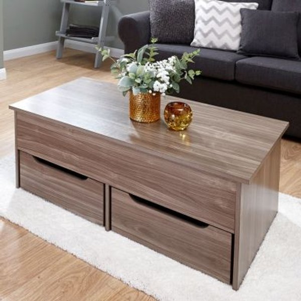 4. Ultimate Walnut Finish Storage Coffee Table: £114.95, QD stores