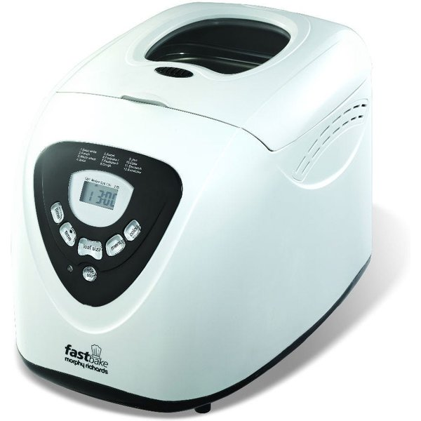 5. Morphy Richards Fastbake Bread Maker - White: £59.99, Robert Dyas