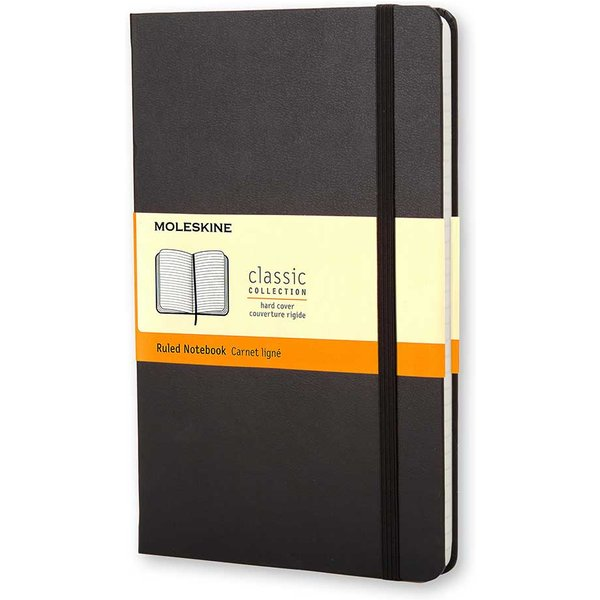 Moleskine Pocket Hardcover Ruled Notebook Black