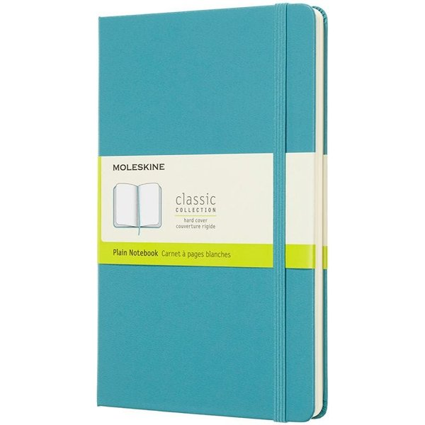 Moleskine Reef Blue Notebook Large Plain Hard