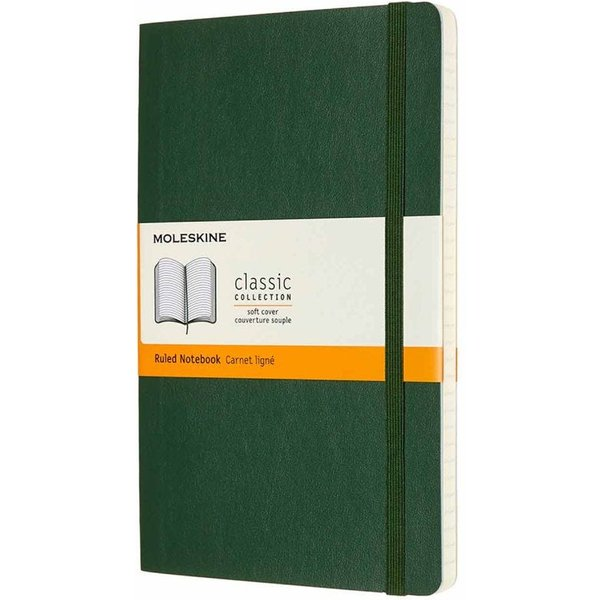Moleskine Notizbuch Large/A5, Liniert, Myrtengrün