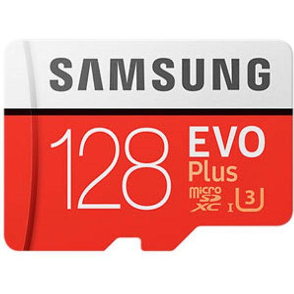 Samsung microSD EVO Plus Speicherkarte mit SD Adapter, 128 GB