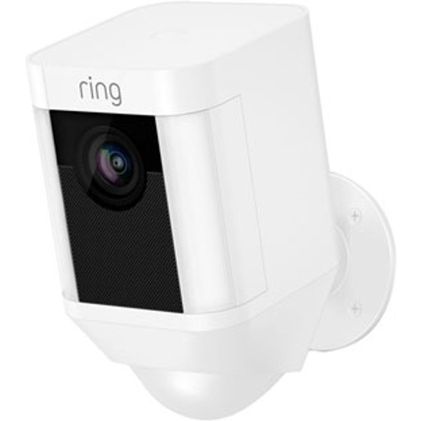 Ring Spotlight Battery Security Camera, White