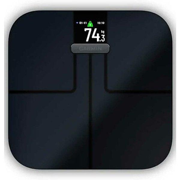 Garmin Index S2 Smart Scale - 32cm x 31cm x 2.8cm Black   Scales