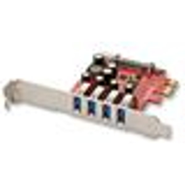 Lindy 4 Port USB 3.0 PCIe Card - adaptateur USB