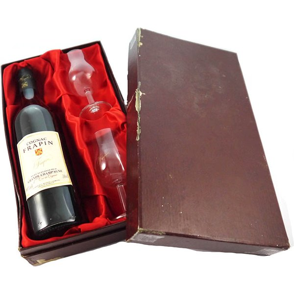 1970's Frappin Very Superior Old Grand Champagne Cognac 1970's Gift Set