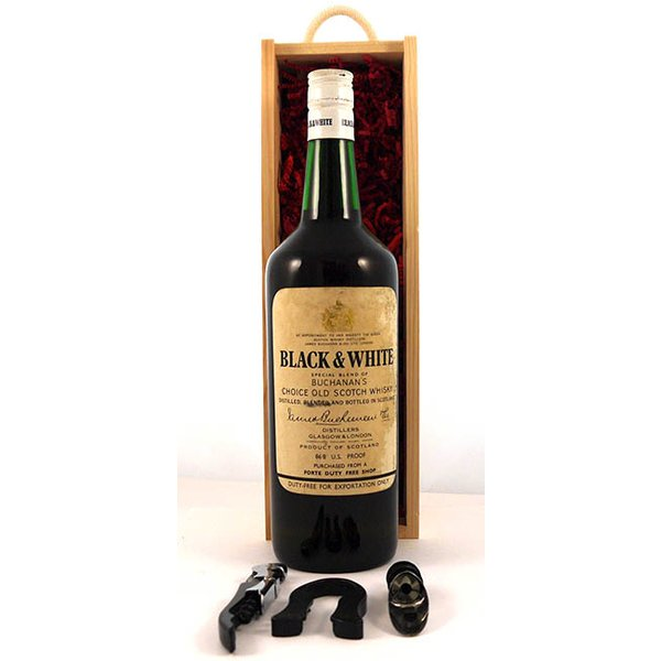 1950's Black and White Buchanan's Scotch Whisky (1950's)  Export Bottling
