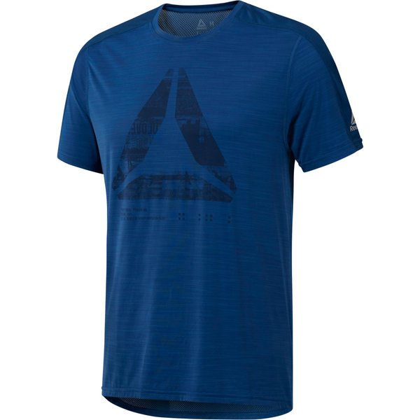 Reebok AC Graphic Move Tee - Extra Large Bunker Blue (D93810)