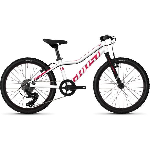 Ghost Lanao 1.0 Kids Bike (2020) - One Size White - Pink