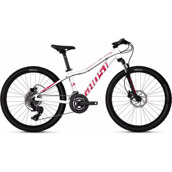 Ghost Lanao D4.4 Kids Bike (2020) - One Size White - Pink