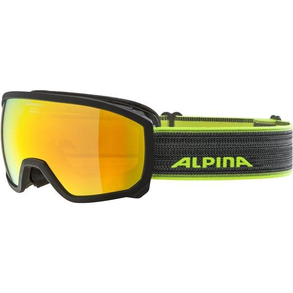 Alpina Kinder Scarabeo Multimirror Skibrille (Schwarz)