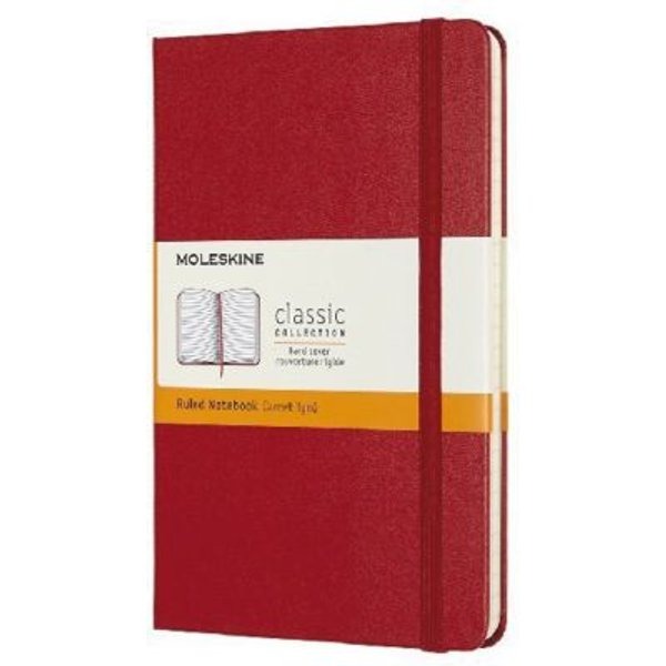Moleskine Medium Ruled Hardcover Notebook: Scarlet