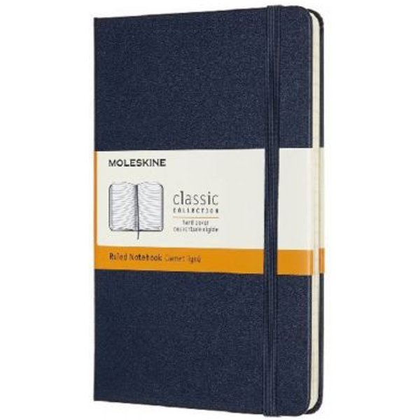 Moleskine Medium Ruled Hardcover Notebook: Sapphire Blue
