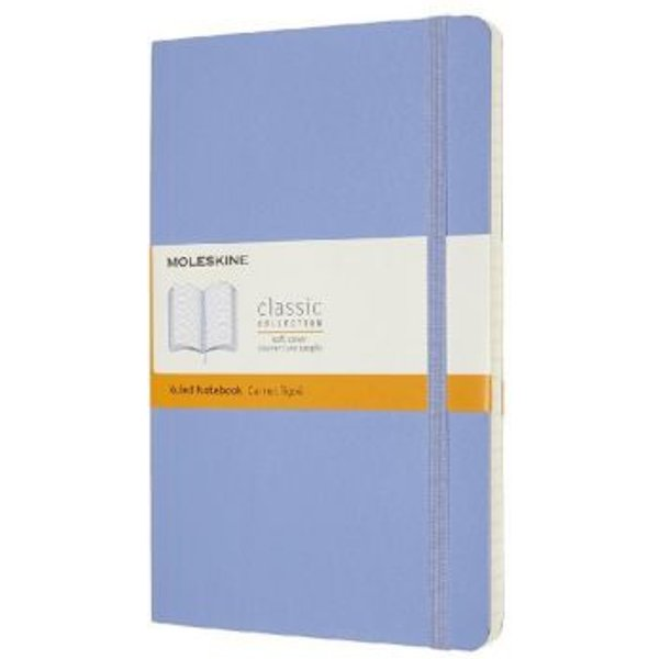 Moleskine Large Ruled Softcover Notebook: Hydrangea Blue