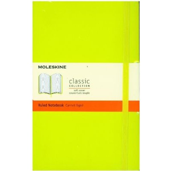 Moleskine Large Ruled Softcover Notebook: Lemon Green