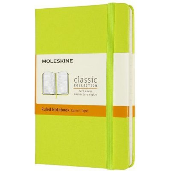 Moleskine Large Ruled Hardcover Notebook: Lemon Green