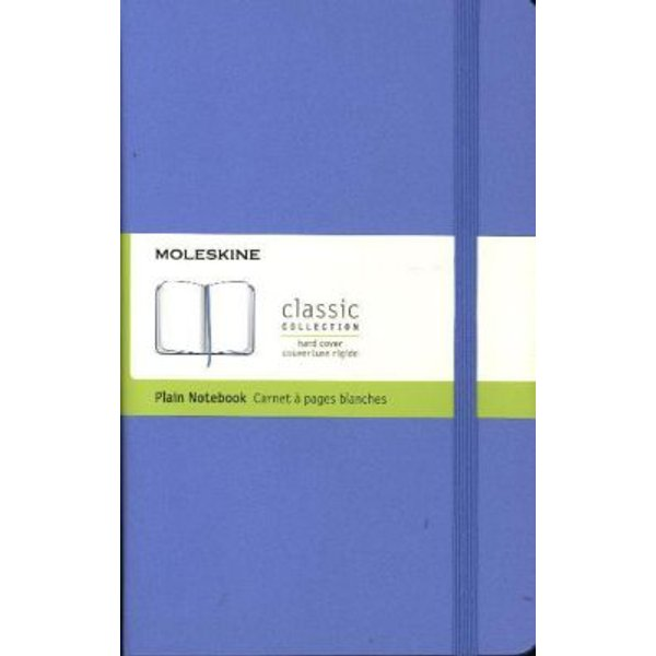 Moleskine Large Plain Hardcover Notebook: Hydrangea Blue