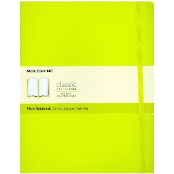 Moleskine Extra Large Plain Softcover Notebook: Lemon Green