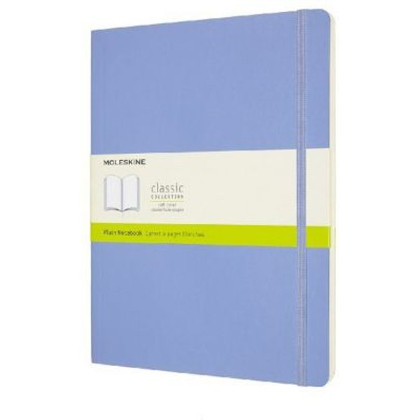 Moleskine Extra Large Plain Softcover Notebook: Hydrangea Blue