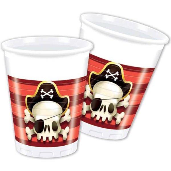 Procos Partybecher Powerful Pirates 200 ml, 8 Stück