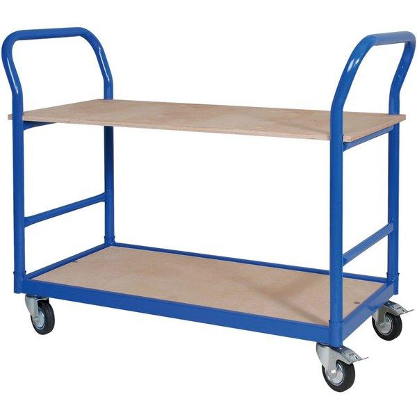 BASIC Tischwagen mit 250 kg Tragkraft – Waren und Co. bequem verfahren Auf 2 Ebenen bietet Ihnen der